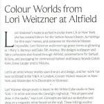 Colour Worlds From Lori Weitzner at Altfield | Designed | November 2018